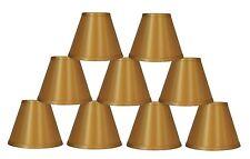 Gold lamp shades for sale ebay urbanest satin hardback chandelier mini lamp shades gold 3x 6x 5 aloadofball Image collections