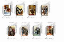 SHERLOCK HOLMES ILLUSTRATIONS - THE ADVENTURE OF ABBEY GRANGE - POSTCARD SET