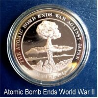 1945 The ATOMIC BOMB ENDS WAR With Japan WWII - Solid BRONZE Medal Uncirculated