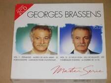 COFFRET 2 CD / GEORGES BRASSENS / MASTER SERIE 1 ET 2 / TRES BON ETAT