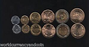 CHILE 1 5 10 50 100 500 PESOS 1995-2001 BI METAL UNC COIN COMPLETE MONEY 6 v SET