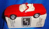 1992 Corvette Convertible Bright Red White Interior Promo with Box
