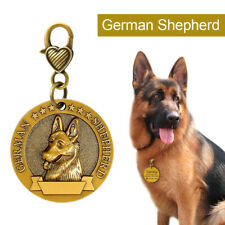 German Shepherd Breed 3D Brass Personalised Pet Tags Dog Name ID Disc Engraved