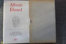 livre la pléiade album n°7 éluard 1968 TBE NRF