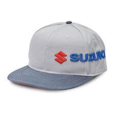 Suzuki Sideways Snap-Back Hat in Gray - One Size - Genuine Suzuki - Brand New