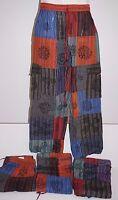 Pants Mens Tibetan cotton hippie Nepal yoga Comfy Unisex Summer printed boho