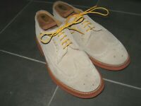 MARK MCNAIRY New Amsterdam Suede Long Wing Brogue Made In England - US 7.5