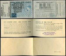 MALTA 1953 GOVERNMENT LOTTERY TICKET + ENVELOPE