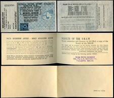 MALTA 1953 GOVERNMENT LOTTERY TICKET + ENVELOPE