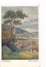 AK aus Rossatz in der Wachau, Kunst-Karte von Leopold Schweiger, NÖ  (B4)