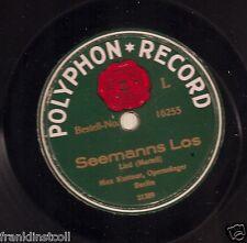 Max Kuttner on 78 rpm Polyphon 16255: Seemanns Los/Seemans-Abschied