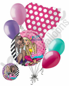 Barbie Doll Mylar Foil Helium Balloon Pink Polka Dot Round Shape Fashion Glamour