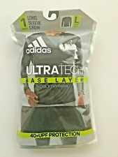 New In package adidas Men's UltraTech Base Layer Quick Dry Fabric Sz L Black Ls