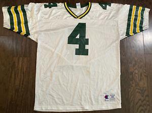 Vintage Brett Favre #4 Green Bay Packers NFL Football Champion Jersey Mens Sz 48