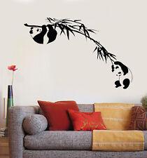 Vinyl Wall Decal Branch Bamboo Tree Panda Asian Animal Stickers (2066ig)