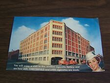 VINTAGE - L&M CHESTERFIELD AND LARK FACTORY - RICHMOND VA    - POST CARD