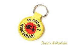 """VESPA Portachiavi """"Plastica? No grazie!"""" V50 PK PX Rally Giallo Rosso Piaggio"""