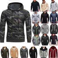Mens Hoodie Sweater Sweatshirt Coat Jacket Pullover Outwear Tops Winter Fall 5XL