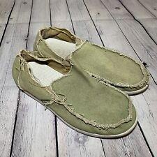 Men's Size 13 Santa Cruz Crocs Slip On Green Shoes Lightweight Loafer