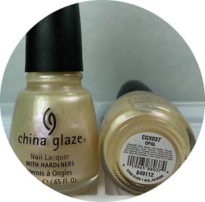 China Glaze Nail Polish Opal #037 Sheer Iridescence Pearl Discontinued Lacquer