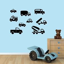 CUTE CARS Removable Wall Art Decals Vinyl kids boys Stickers Mural Decor DIY
