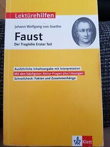 Lektürehilfen Faust Der Tragödie Erster Teil Johann Wolfgang von Goethe