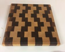 3D End Grain Cutting Board, Handmade, Walnut and Maple Wood.