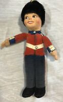 "Norah Wellings 1940s British Guard 9"" Boy Cloth Doll Vintage UK"