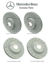 For Mercedes R230 SL55 SL65 AMG Set of Front & Rear Disc Brake Rotors Genuine