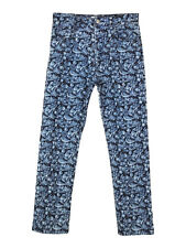 Isabel Marant Etoile embroidered floral straight fit jeans