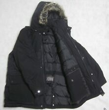 NWT MICHAEL KORS snorkel down coat hood jacket L Black