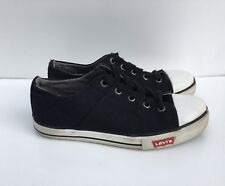 Levi's Kids Boys Black Denim Sneakers Size-2