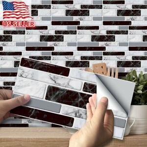 27/54x Self Adhesive Mosaic Brick Tile 3D Sticker Kitchen Bathroom Wall Stickers