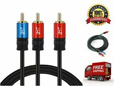 1RCA Male to 2RCA Male Subwoofer Stereo Audio Cable Y Splitter Connector Jack
