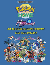 Pokemon Home All 48 Mega Evolution Pokemon Plus 100% Zygarde