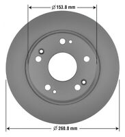 Disc Brake Rotor-Fully Coated Premium Brake Rotor Rear  (OE 42510-SNA-A00)
