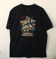 "Dive Bar Vintage Fit ""The Tower Bar"" San Diego CA Black Sz XL Short Sleeved"