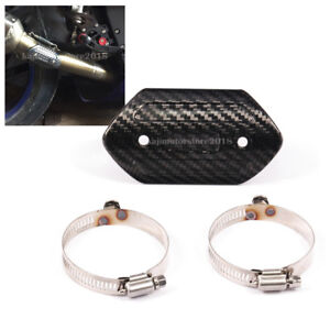 Motorcycle Carbon Fiber Exhaust Pipe Protector Heat Shield Cover Guard Racing