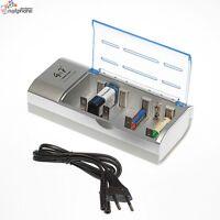 Akku Batterie Ladegerät-Schnellladegerät Batterieladegerät C D AA AAA 9 V Block