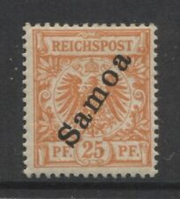 1900 German colonies SAMOA  25 Pf. early issue  mint*, $ 75.00