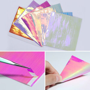 6 Sheets Holo 3D Nail Stickers Ultra Thin Laser Line Nail Foil Tips BORN PRETTY