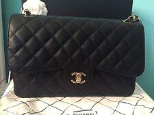 NIB Chanel Jumbo Classic Double Flap Caviar Bag~Black/Gold~ Retail 5500+tax