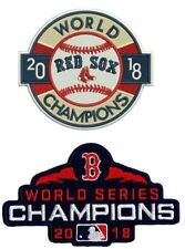 BOSTON RED SOX WORLD SERIES CHAMPIONS PATCH SET CHAMPIONSHIP 2018 MLB CHAMPS