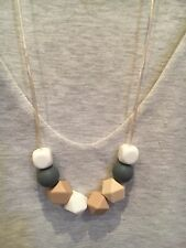 Silicone Necklace for Mum Jewellery Beads Aus Gift Sensory Breastfeeding