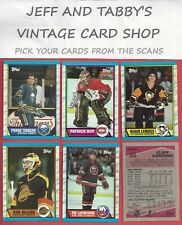 1989-90 TOPPS HOCKEY 1 TO 198 YOU PICK FROM SCANS