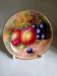 Royal Worcester , fallen fruit pin dish , C1940 , signed H.Ayrton .