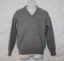 Superb Grey Wool Knitted LCN V Neck Long Sleeve Top Jumper Sweater Size S Grunge