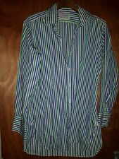 Turnbull asser shirt Striped Uk 16 41cm 100% Cotton Made In England Smart Career