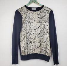 Equipment Femme Women's Silk/Wool Long Sleeve Snake Print Top Sz S Nwot