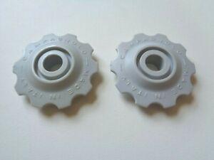 NOS Vintage 1980s Campagnolo Super Record white derailleur jockey wheels upgrade